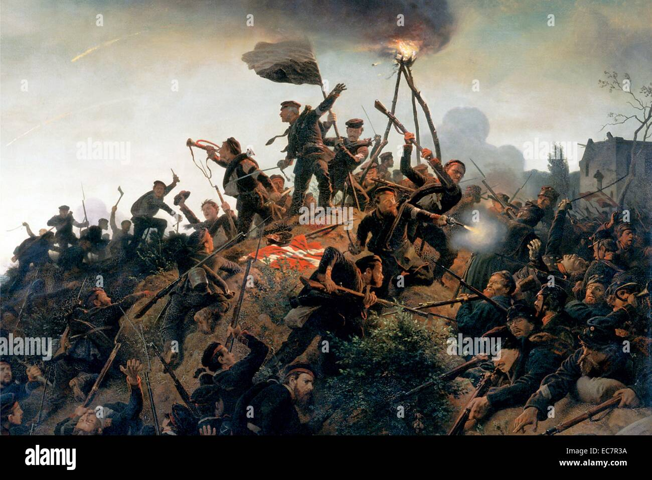 The Battle of Als - Stock Image