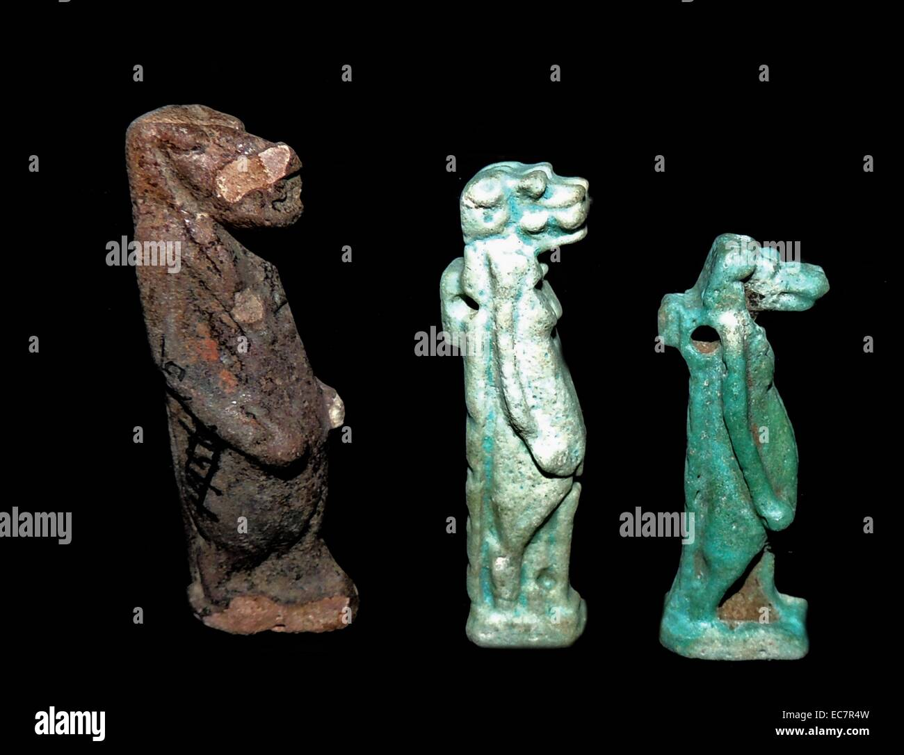 Ancient egyptian figures of gods - Stock Image