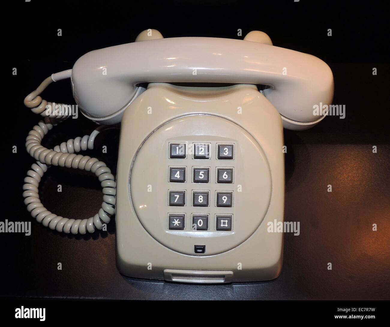 Telephone model from the 1970s - Stock Image