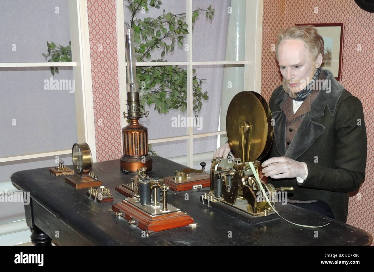 The Morse telegraphic apparatus was officially adopted as the standard for European telegraphy in 1851 - Stock Image