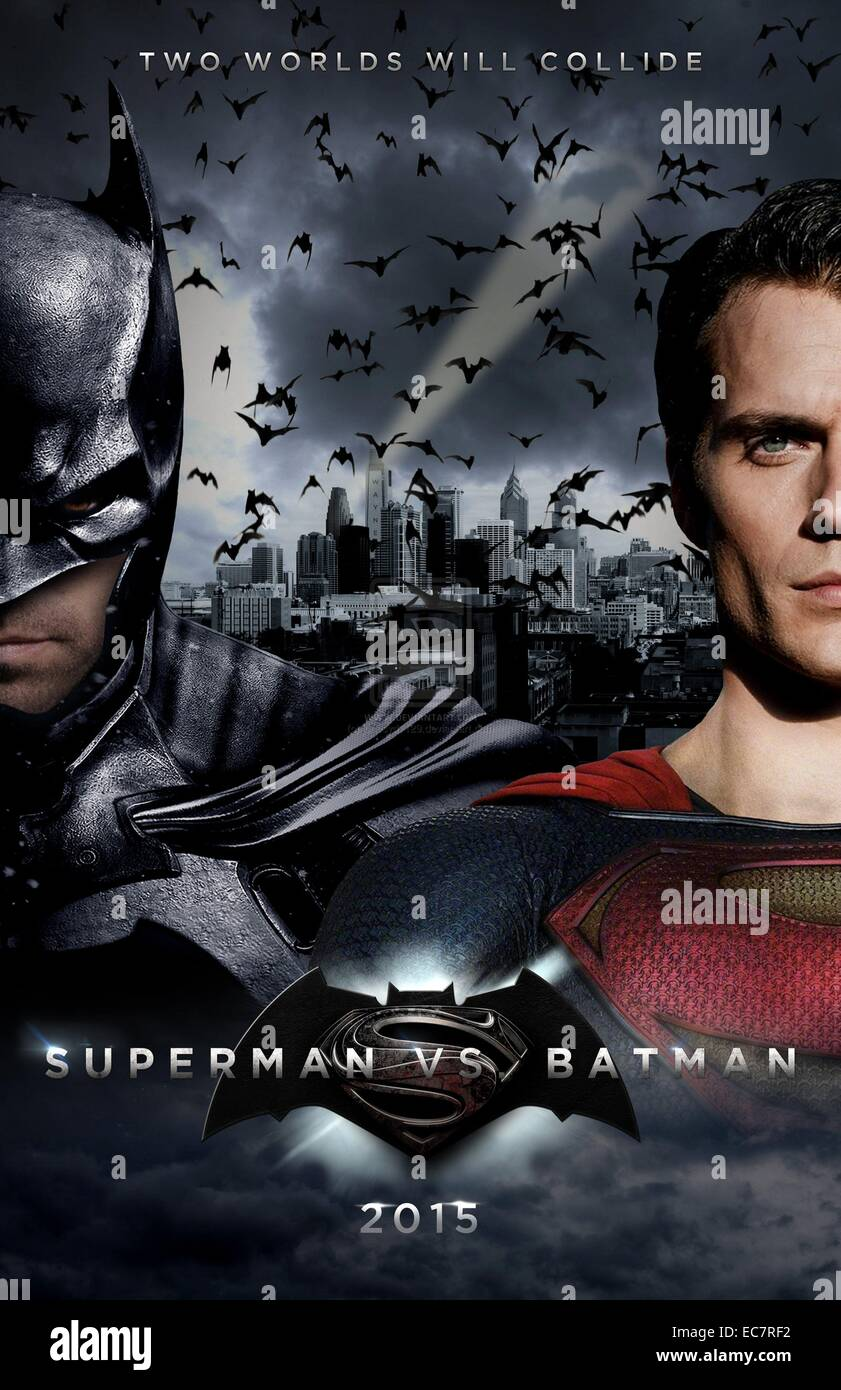 Batman vs Superman: Dawn of Justice - Stock Image