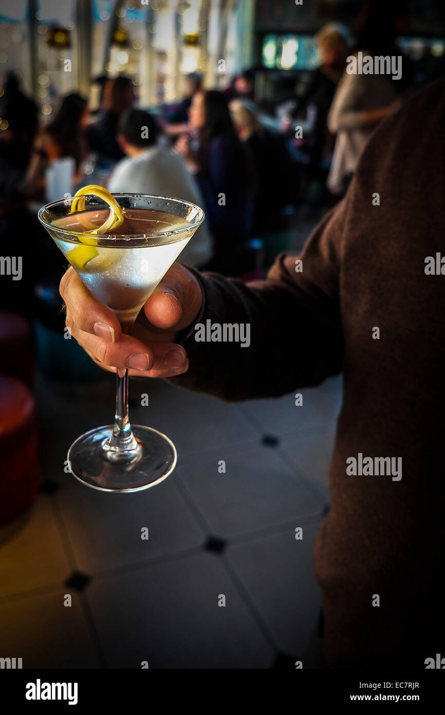 A Martini with a twist. - Stock Image