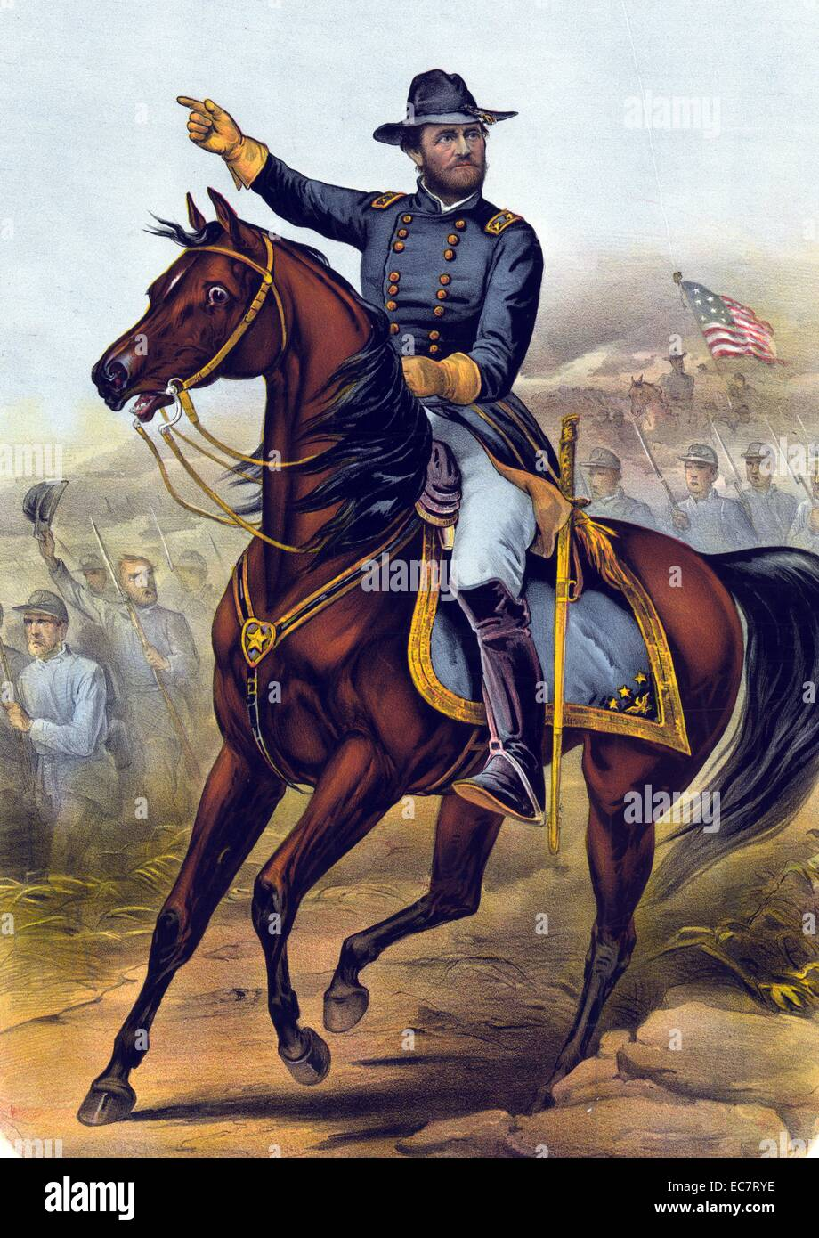 To the grand Army of the Republic this print of our old commander General U.S. Grant is respectfully dedicated - Stock Image