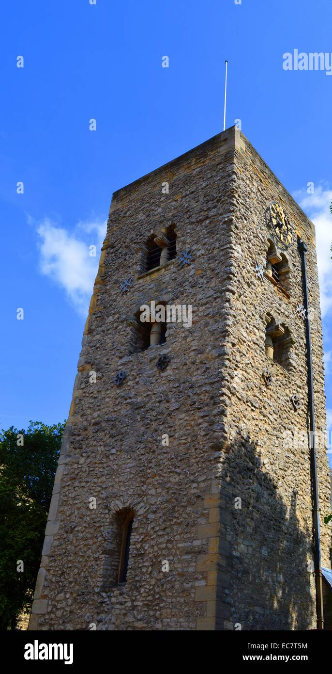 Saxon Tower, Oxford's oldest building. - Stock Image