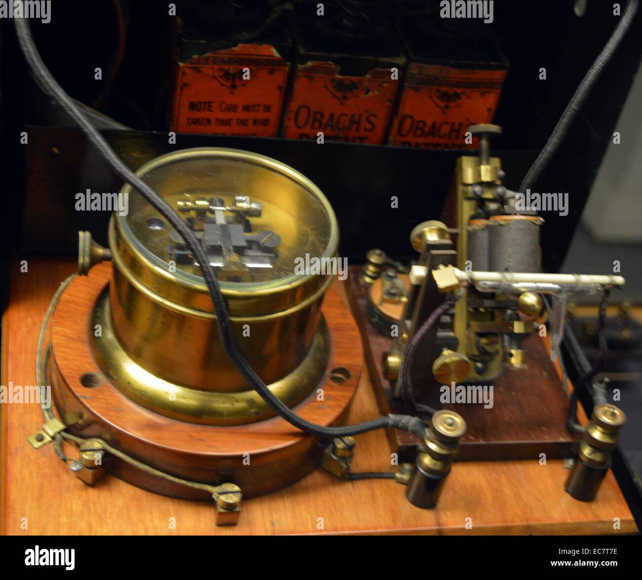 Coherer Receiver by Guglielmo Marconi, 1896. - Stock Image