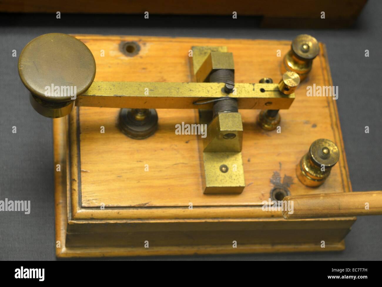 Morse Key, c 1900 - Stock Image
