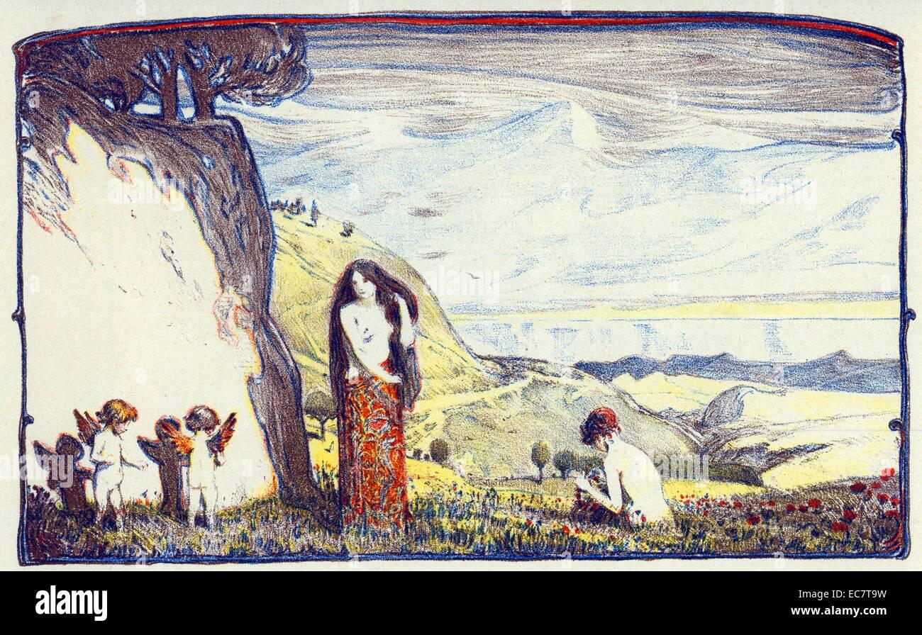 Ludwig von Hofmann Sonnige Tage (Sunny Days) Berlin, 1897 - Stock Image