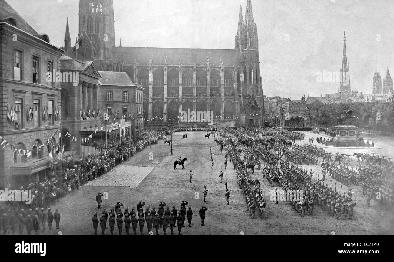 Rouen, France, august 21st 1919 a commemoration of the war dead is held - Stock Image