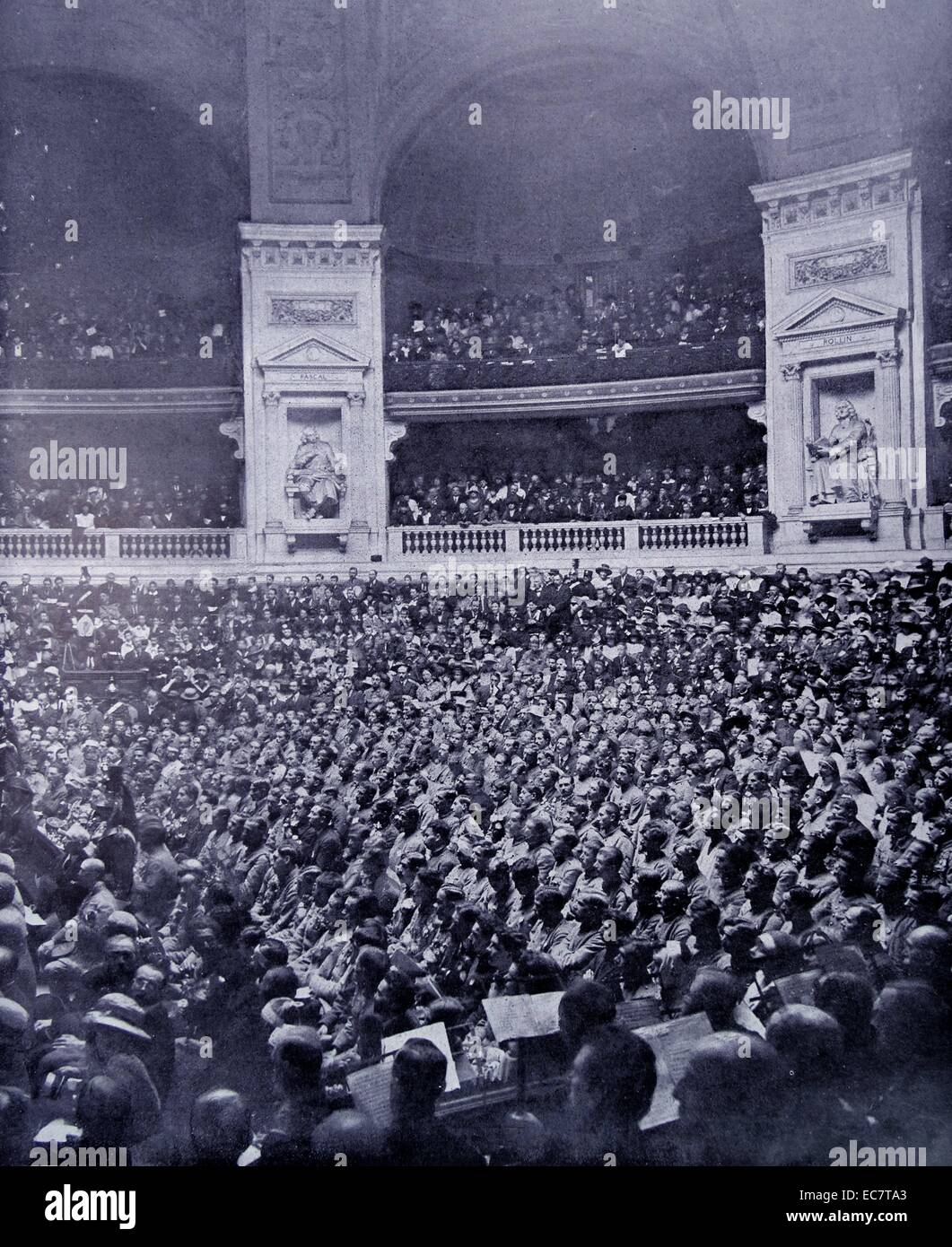 sorbonne, Paris, august 1919 a commemoration of the war dead is held - Stock Image