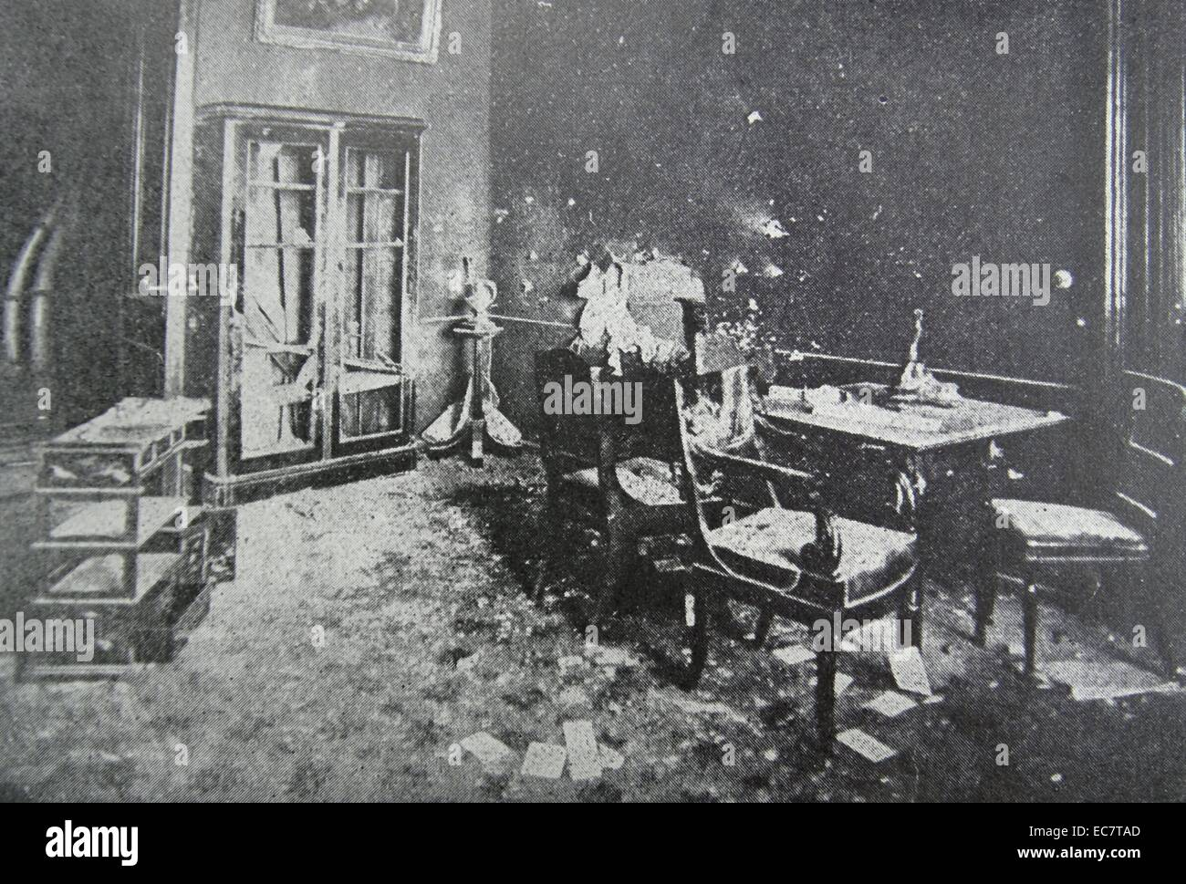 Office of the Dowager Empress Marie fedorovna of Russia, looted during the russian revolution 1917 - Stock Image