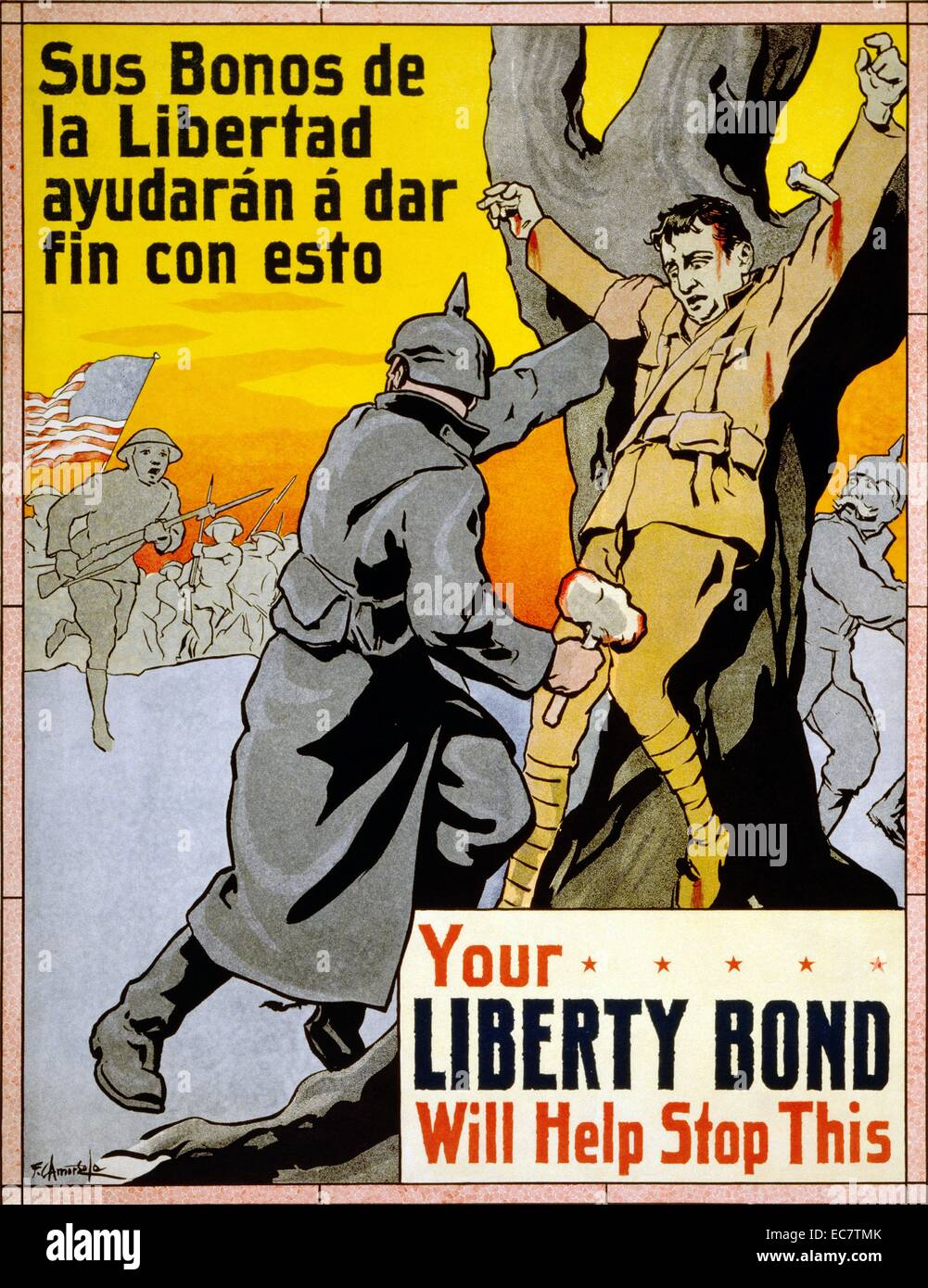WWI propaganda poster - Stock Image