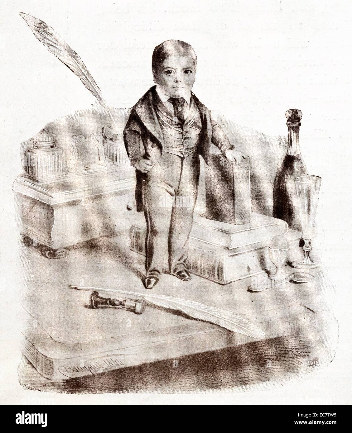 General Tom Thumb who achieved great fame as a midget performer - Stock Image