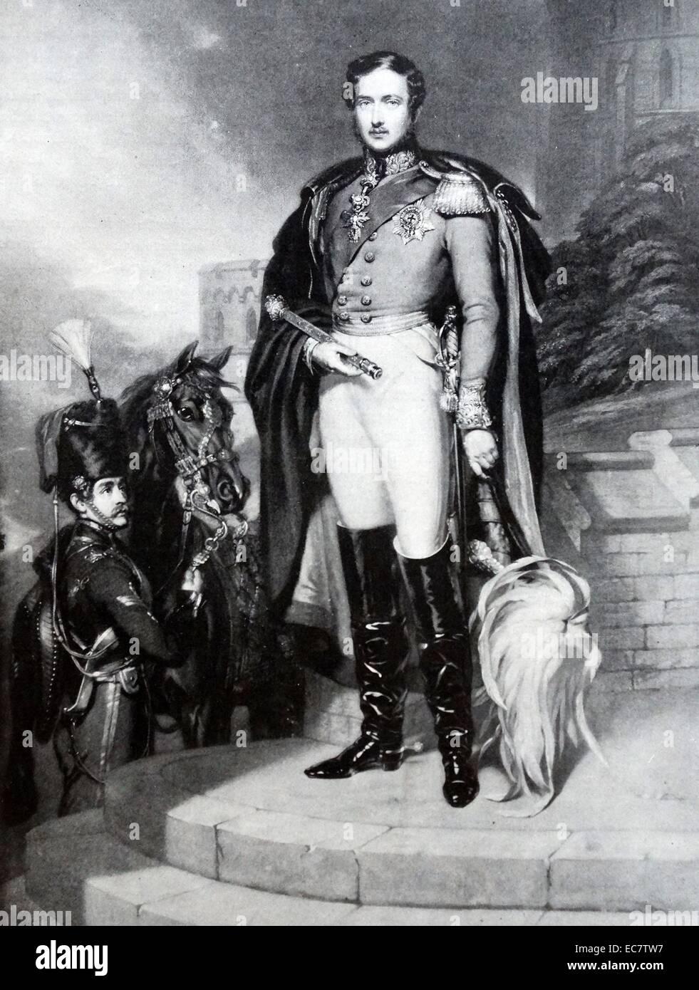 Prince Albert of Saxe-Coburg and Gotha (The Prince Consort - Stock Image