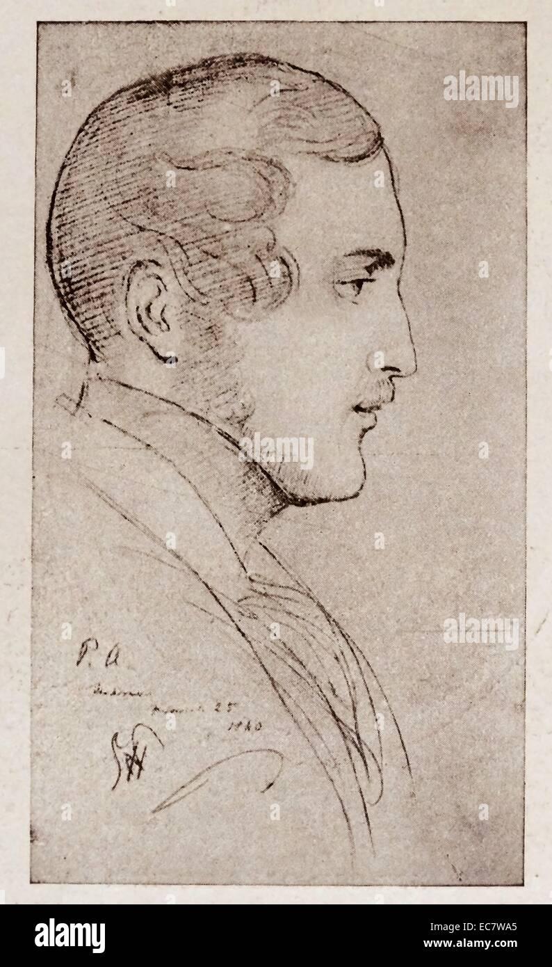 Prince Albert the consort of Queen Victoria - Stock Image