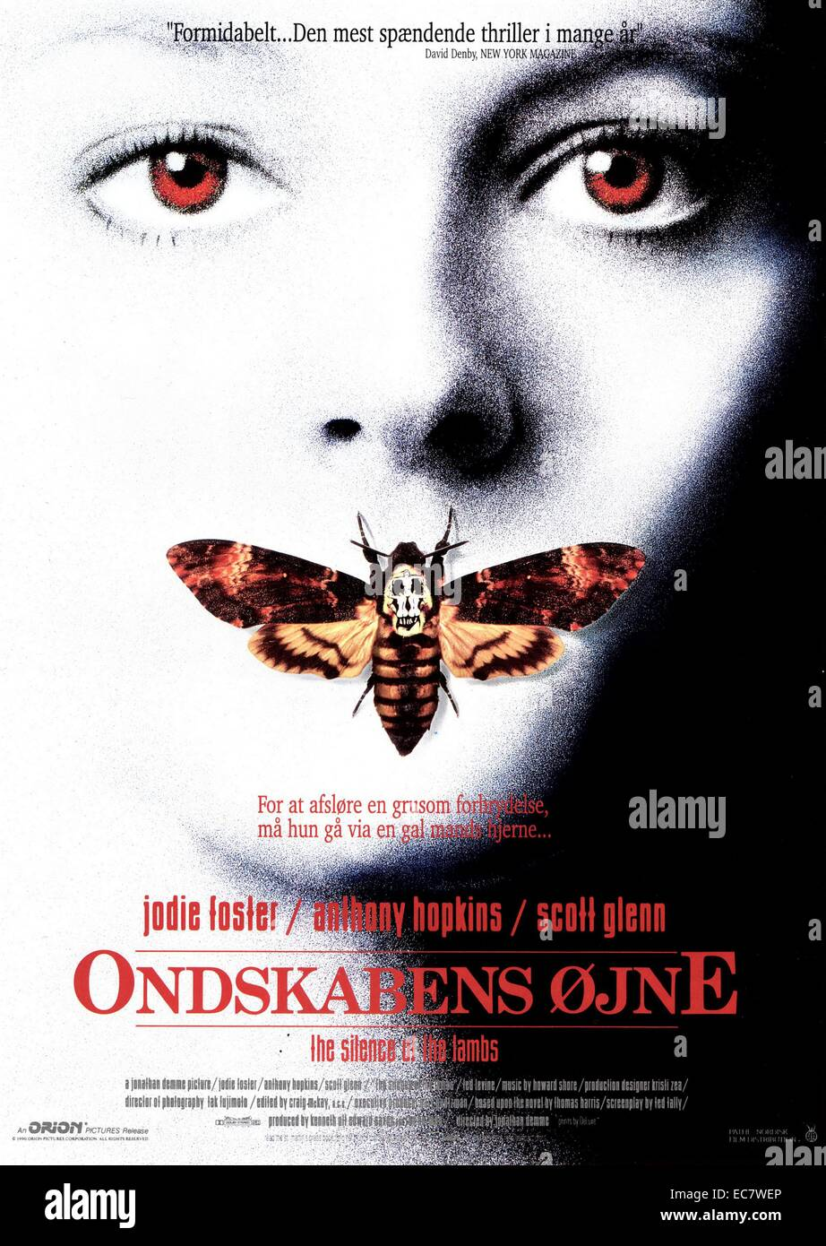 Danish poster for Silence of the Lambs Stock Photo ...