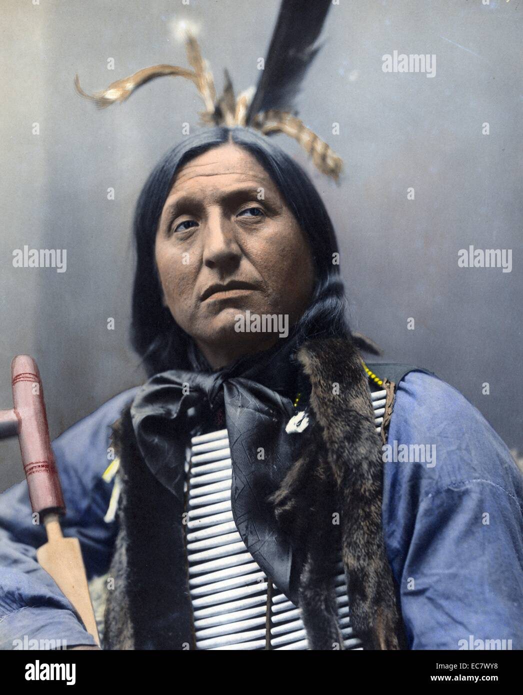 Left Hand Bear, Chief 1899. - Stock Image