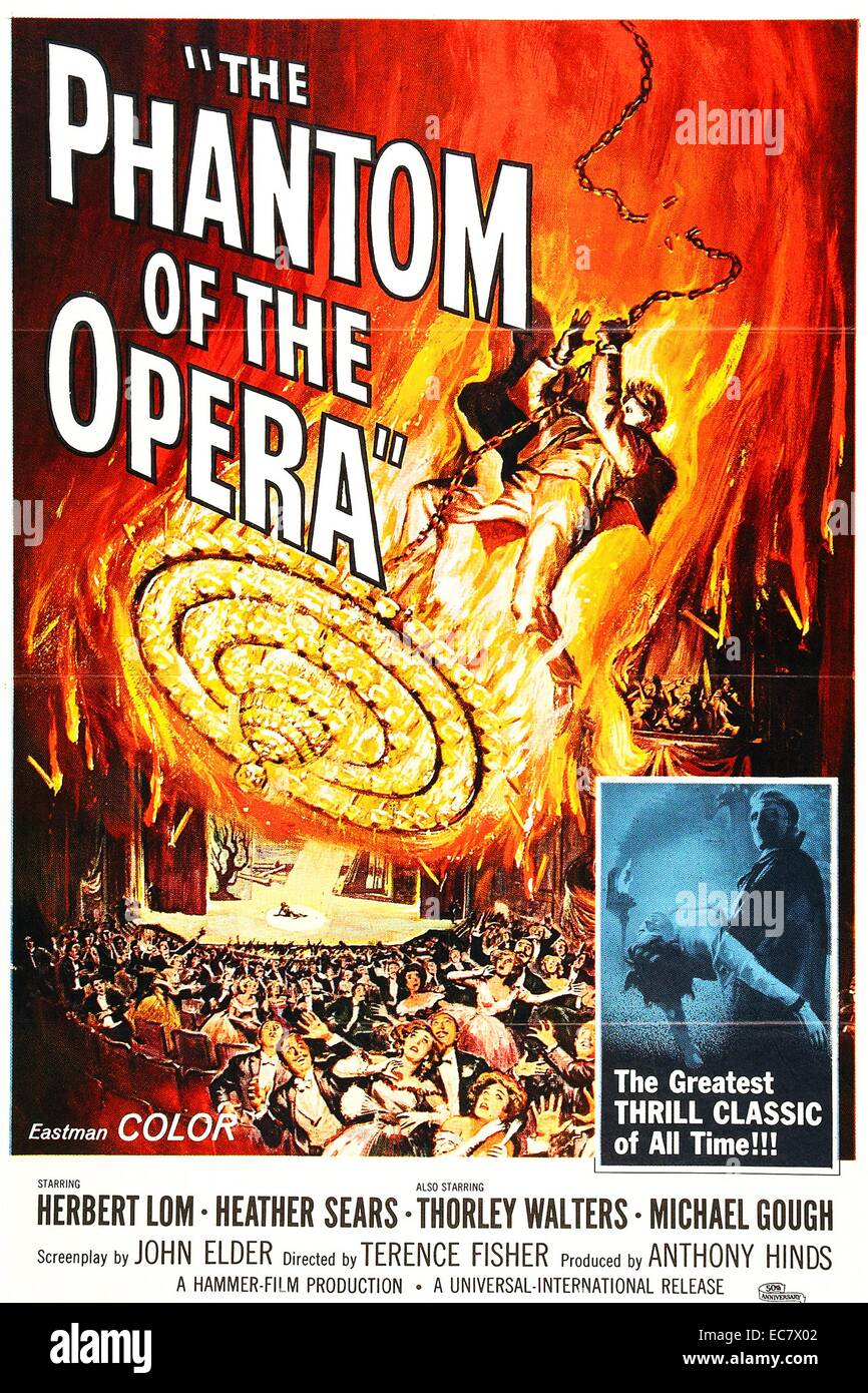 The Phantom of the Opera is a 1962 British horror film - Stock Image