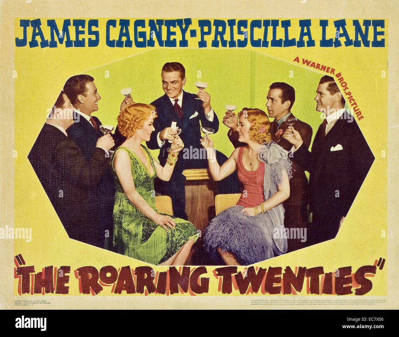 The Roaring Twenties, a 1939 crime thriller starring James Cagney, Priscilla Lane, Humphrey Bogart - Stock Image