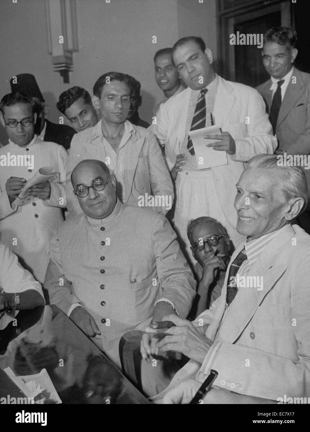 Muhammad Ali Jinnah and Liaquat Ali Khan - Stock Image