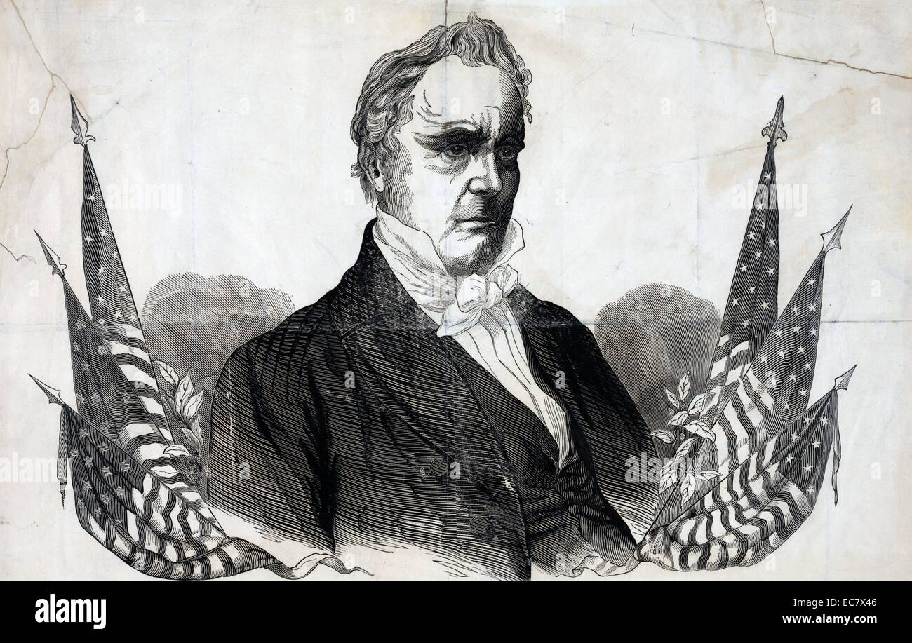 Campaign material for James Buchanan - Stock Image