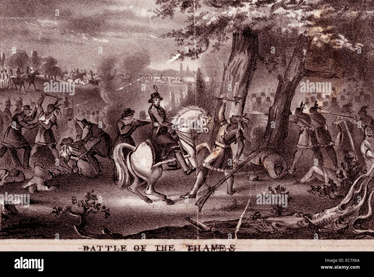 Battle of the Thames, also called Battle of Moravian town , (Oct. 5, 1813), - Stock Image