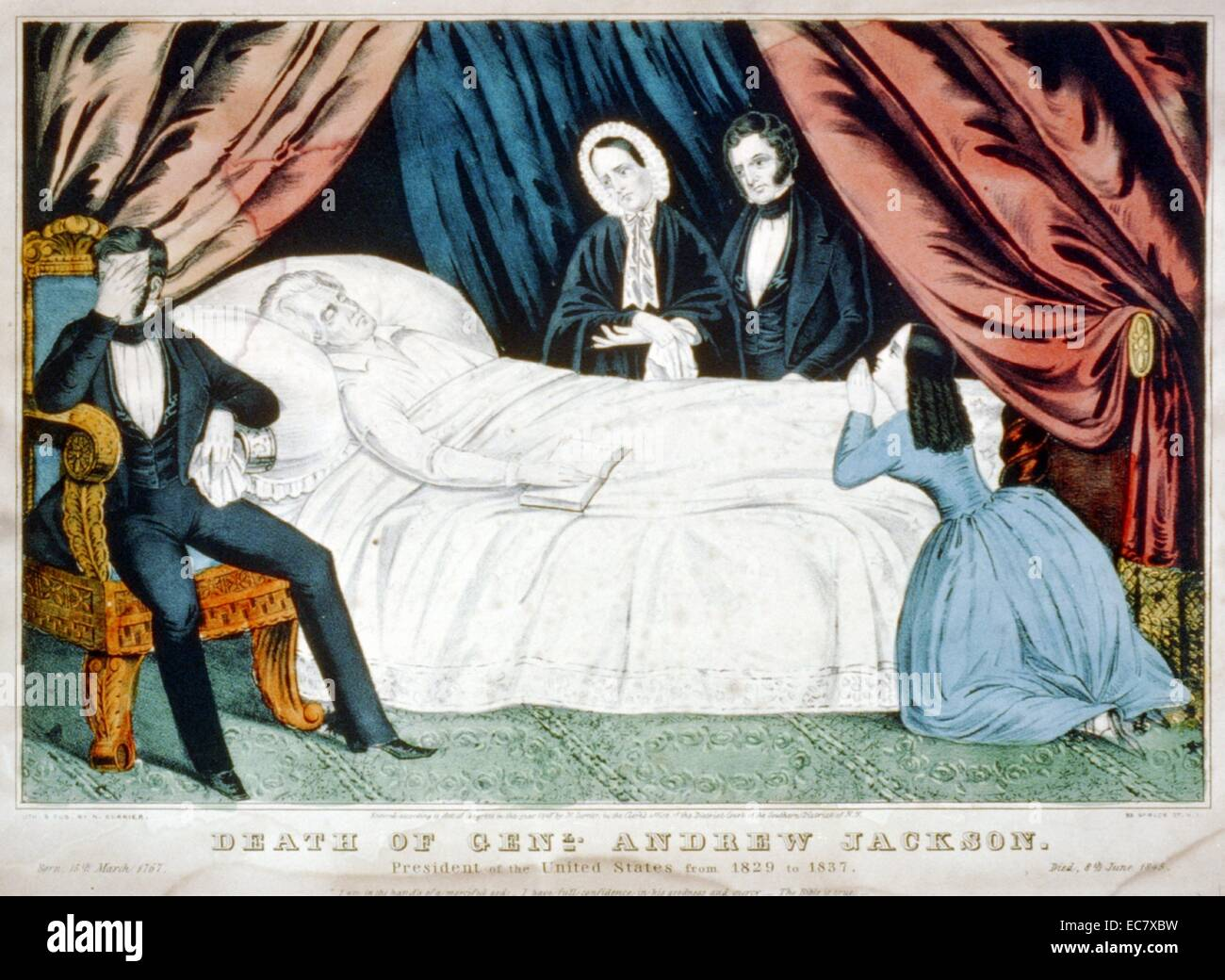 The death of Andrew Jackson - Stock Image