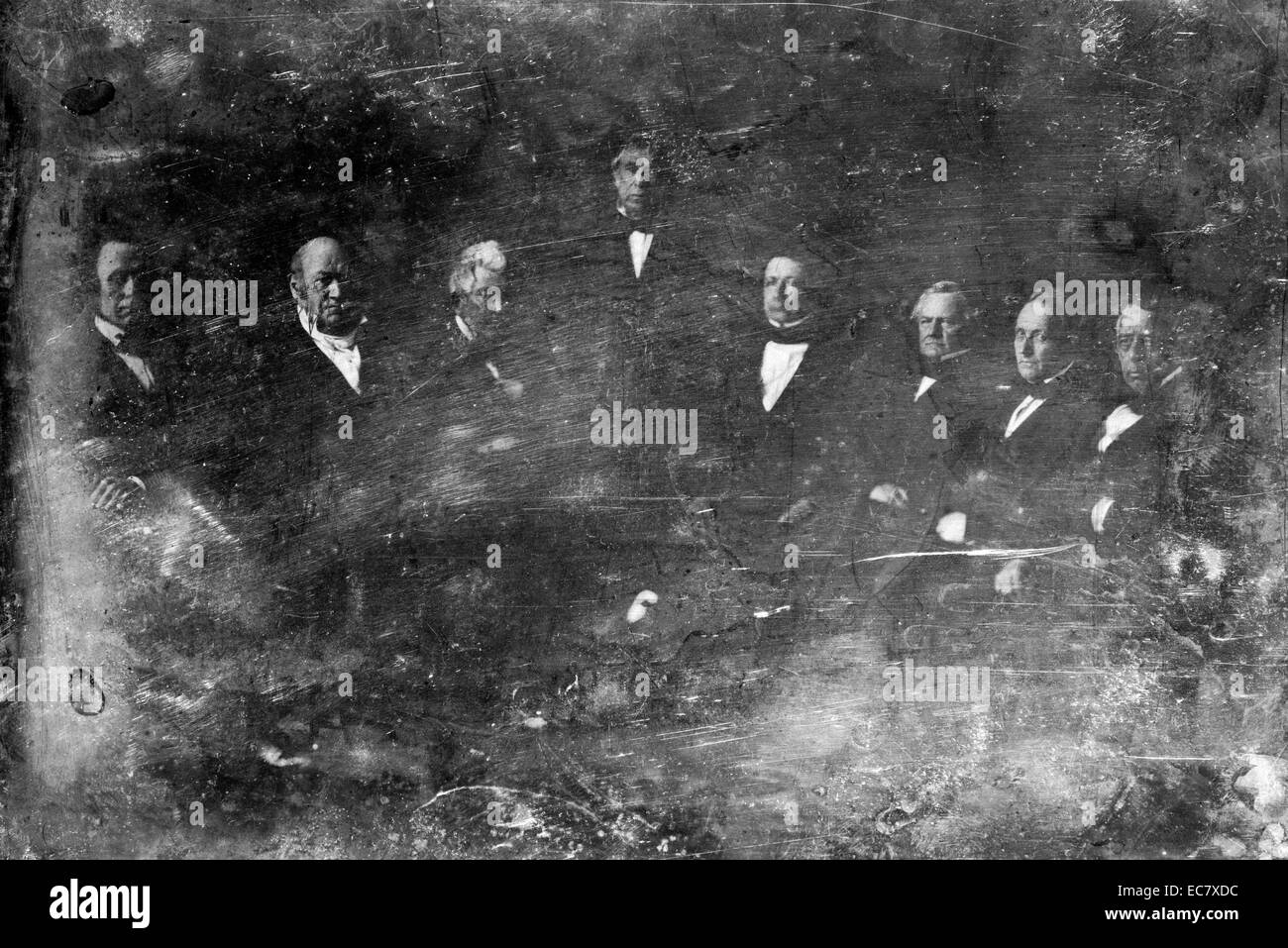 Zachary Taylor and his cabinet - Stock Image
