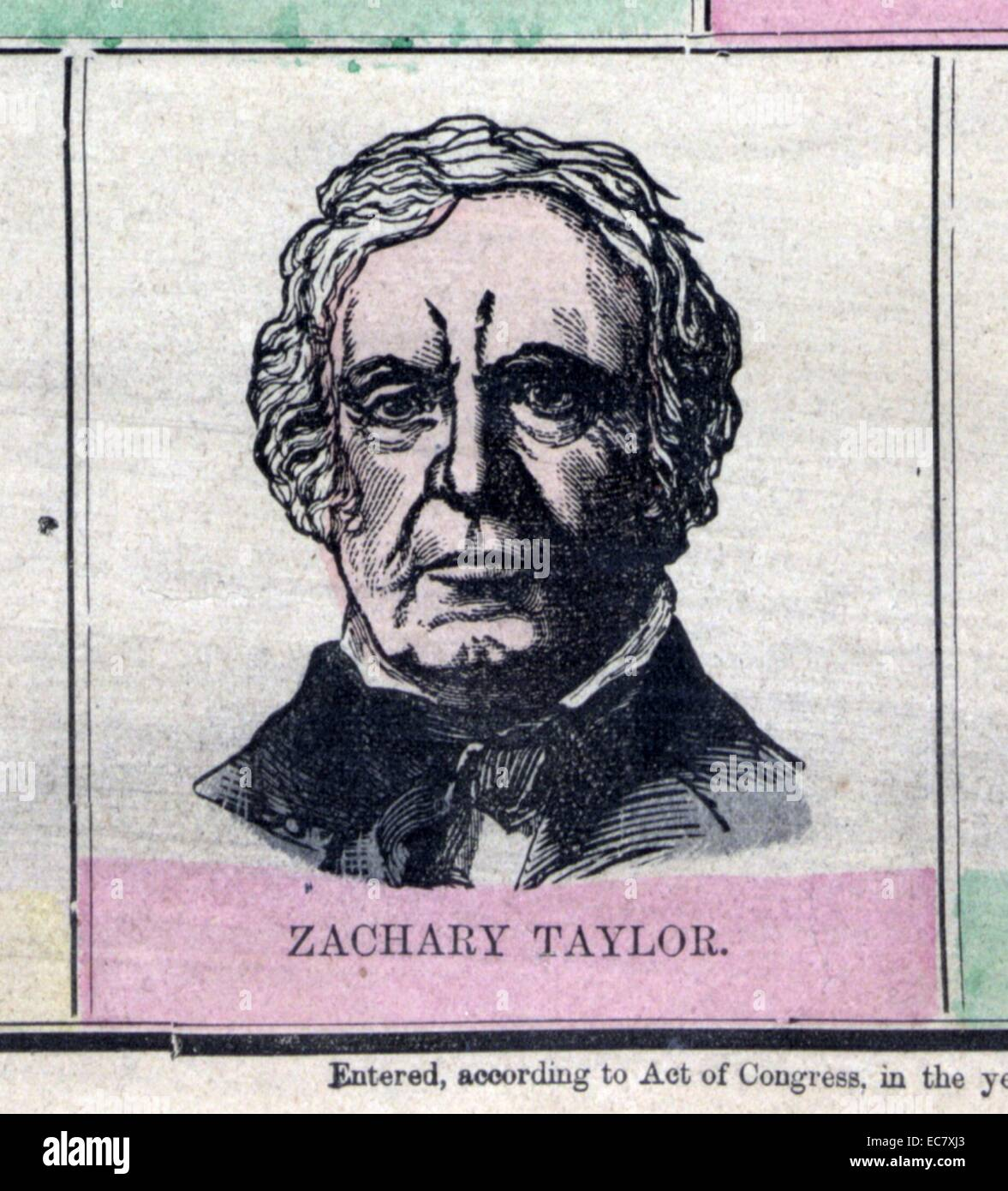 Zachary Taylor (November 24, 1784 – July 9, 1850) was the 12th President of the United States, serving from March Stock Photo