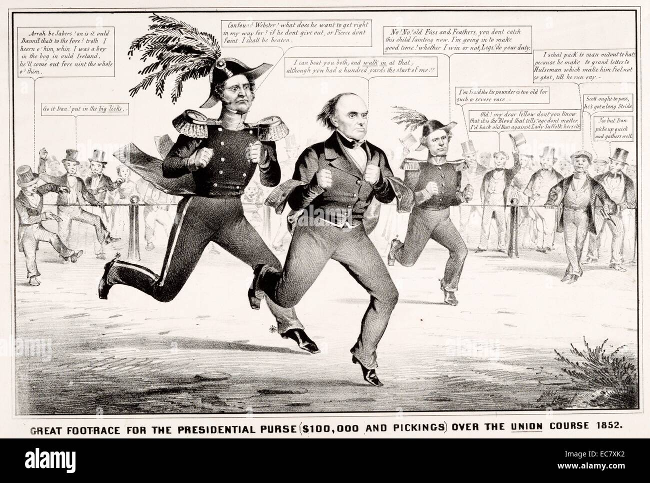 Satire on presidential election of 1852