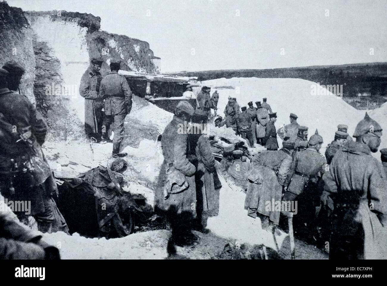 German artillery position at Hulluch. - Stock Image