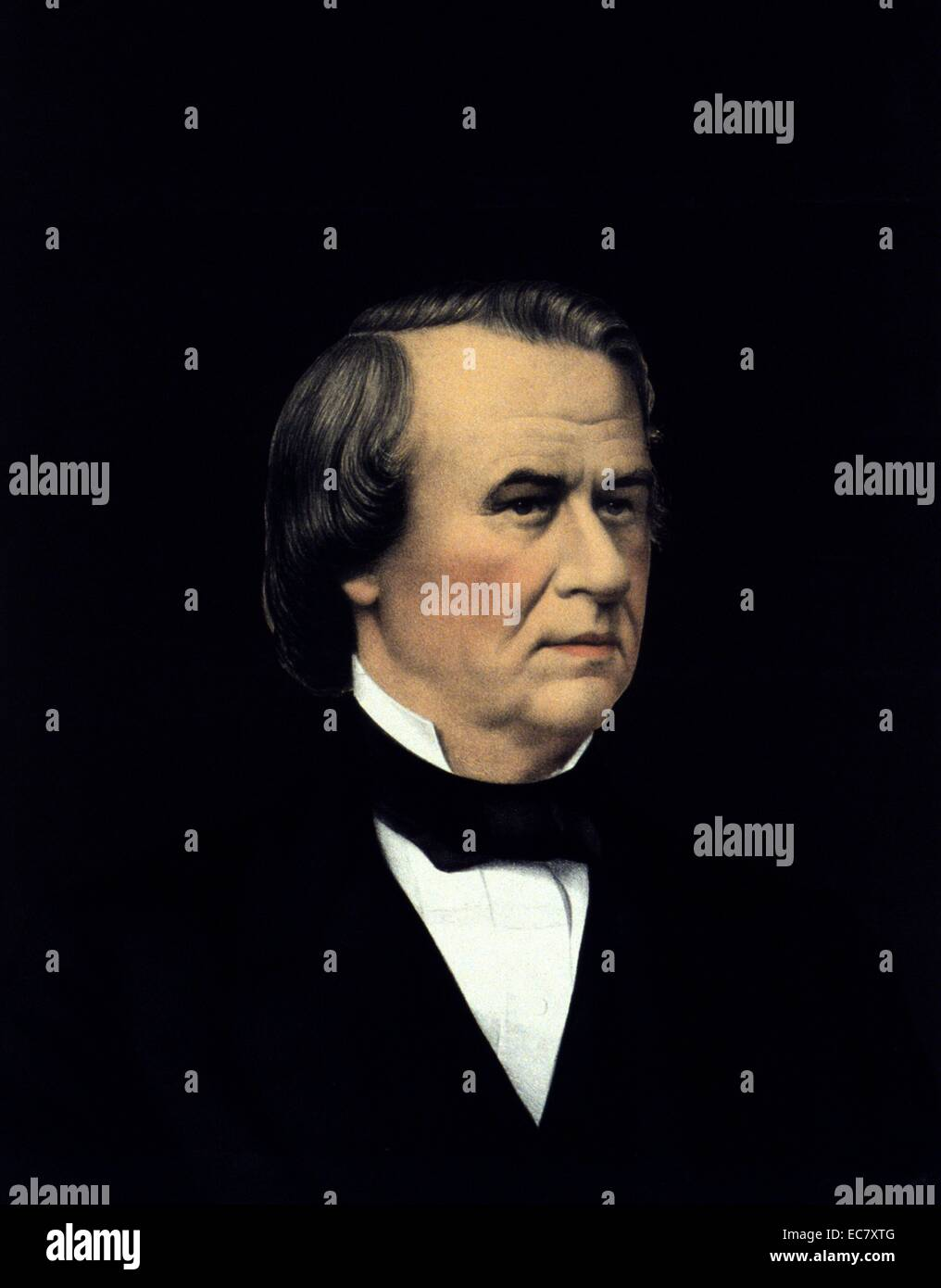 President Andrew Johnson - Stock Image