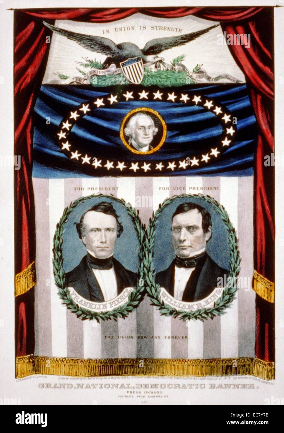 Presidential campaign banner - Stock Image