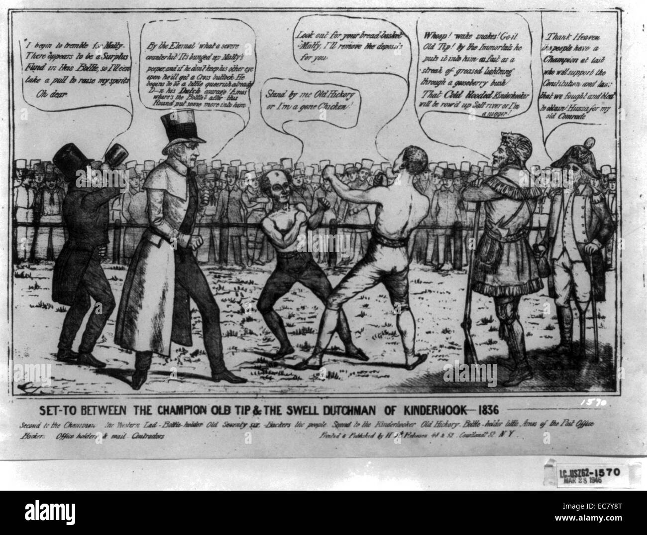 Satire on the 1836 presidential campaign - Stock Image