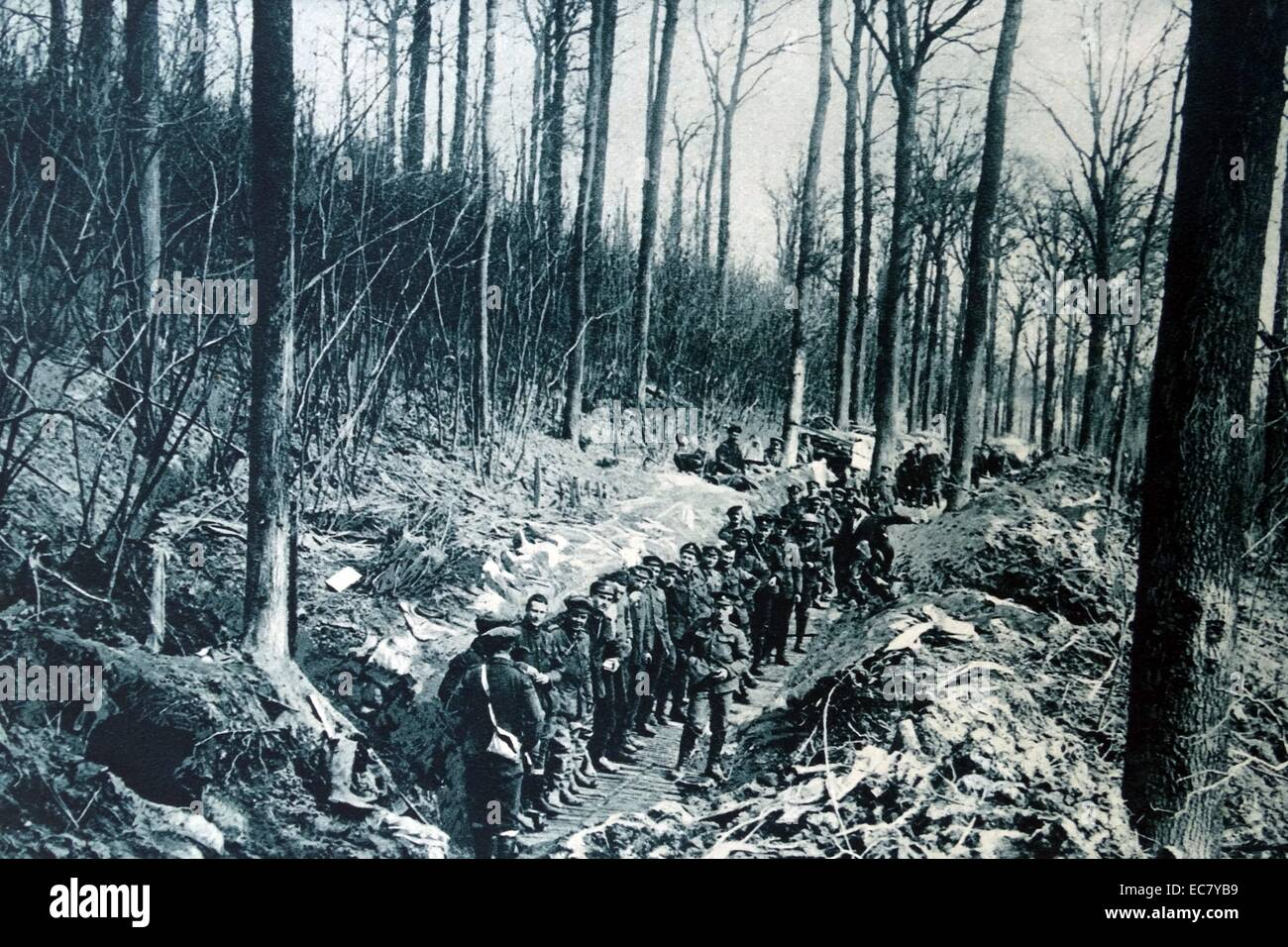 Canadian soldiers on the western Front  during world war one 1915 - Stock Image