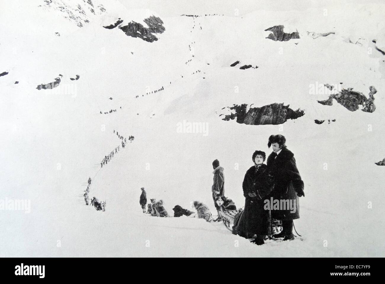 A location shot from Mount McKinley, 1924. - Stock Image