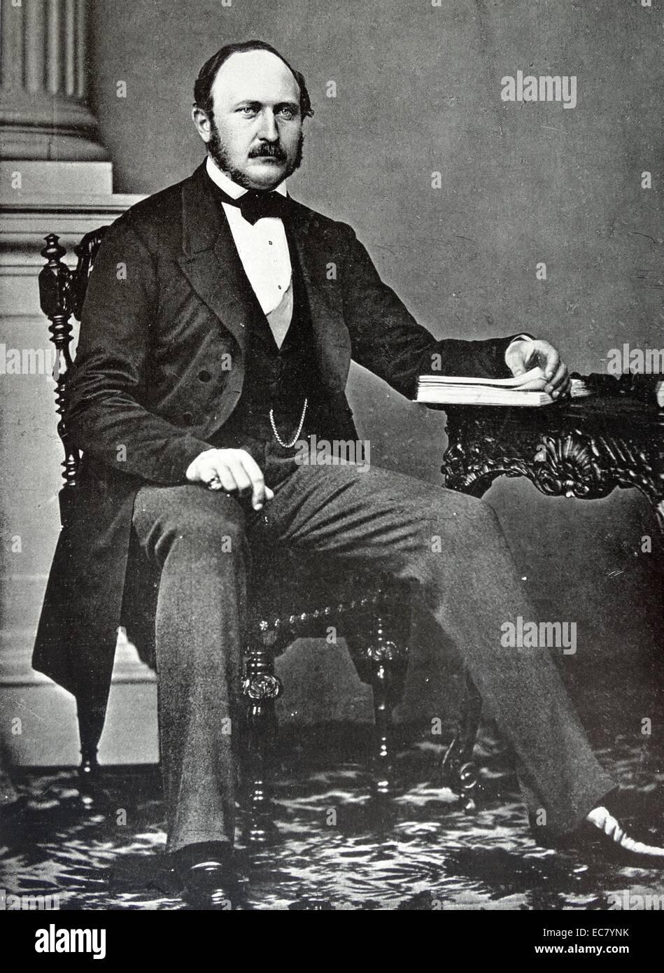 Prince Albert (1819-1861); The husband of Queen Victoria; 1858 - Stock Image