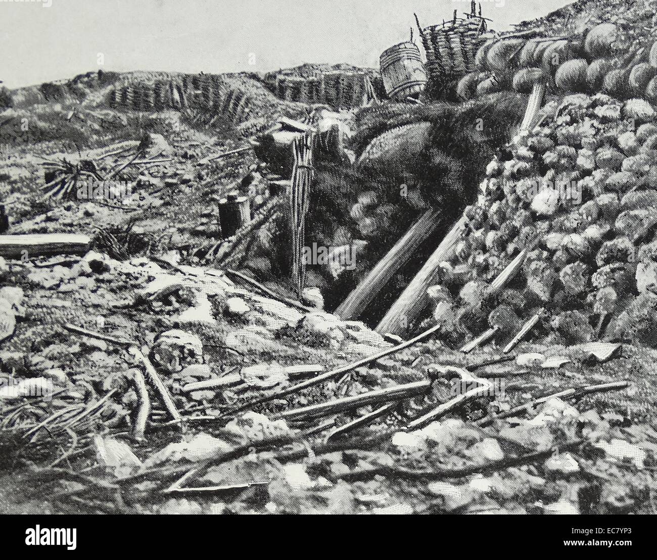 bunker at the Battle of the Great Redan during the Crimean War; fought between British forces against Russia on - Stock Image