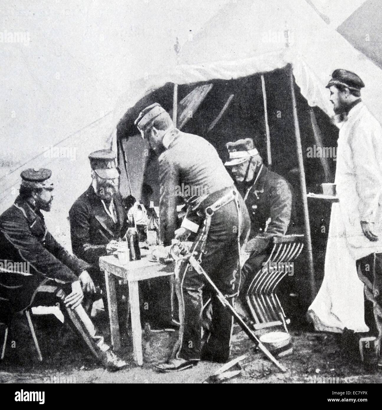 British officers during the Crimean war 1854 Stock Photo