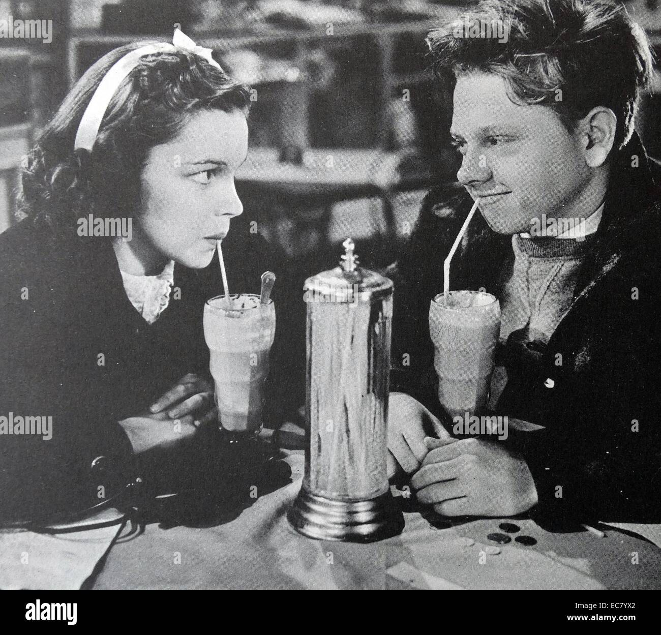 'Love Finds Andy Hardy', 1938, with Judy Garland and Mickey Rooney.  Based on a play by Aurania Rouverol, - Stock Image