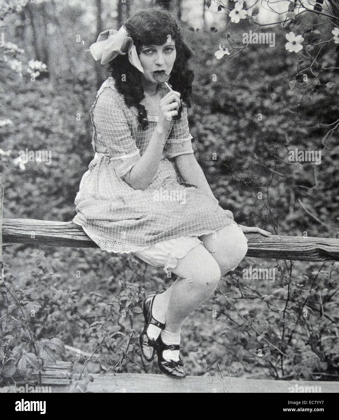 Caroline Griffith was famed as 'the orchid lady of the screen' and as its most beautiful woman - Stock Image