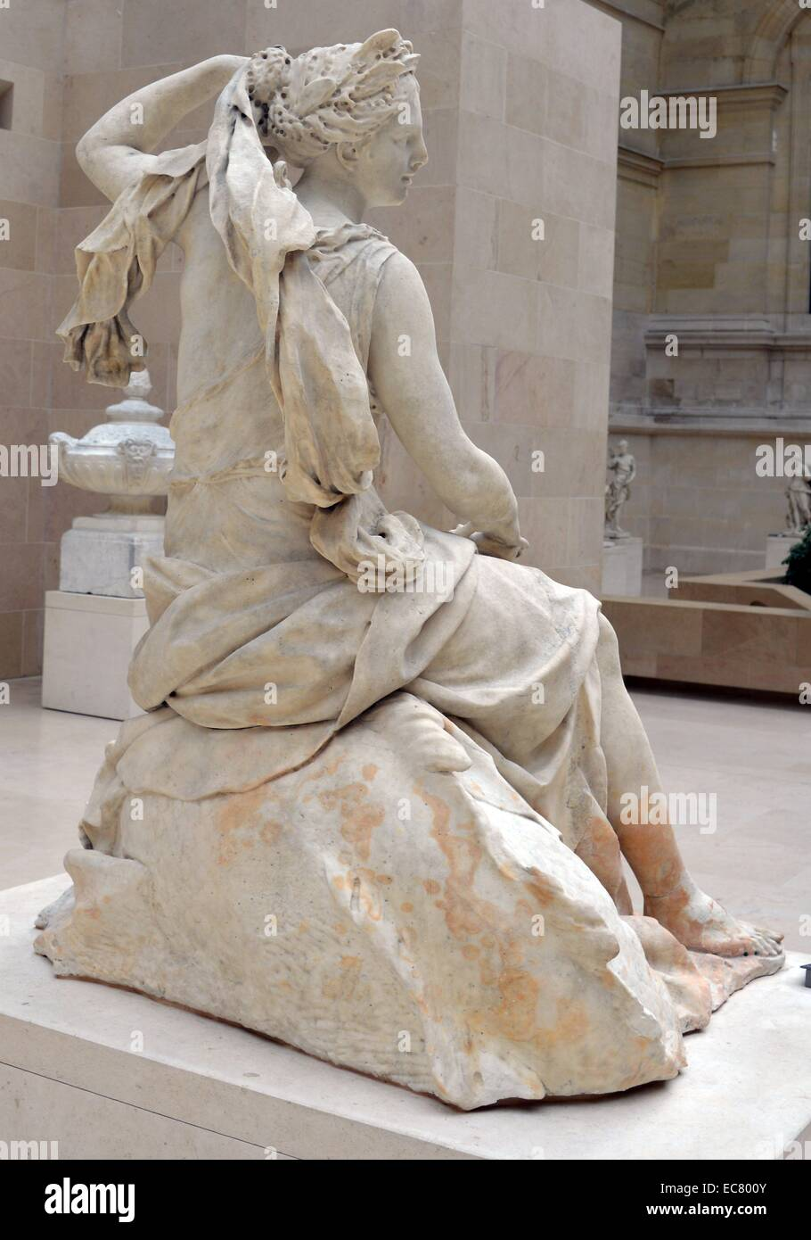 Marble statue of Amphitrite, wife of Poseidon by Charles Antoine Coysevox (1640-1720), French sculptor. Dated 17th - Stock Image