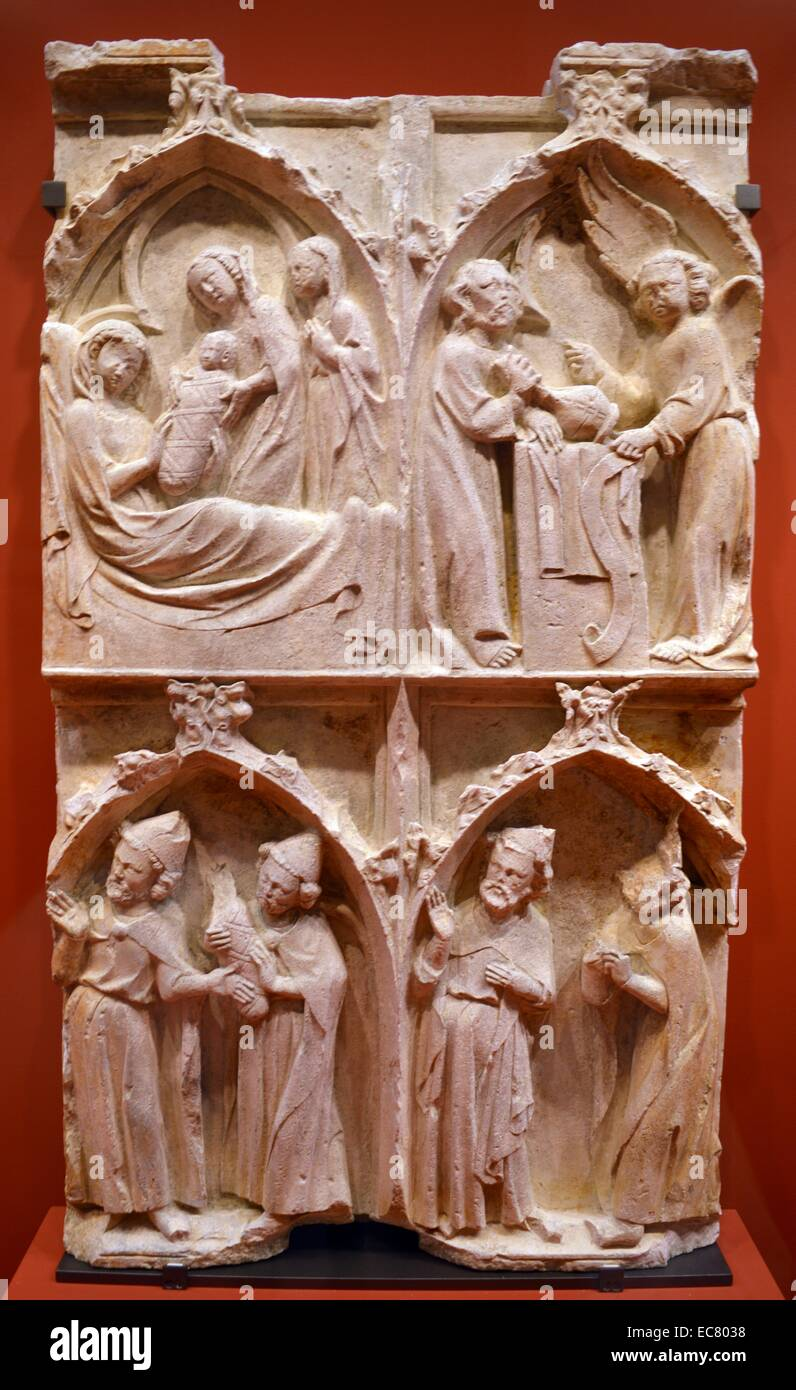 Burgundy and Lorraine, the second quarter of the fourteenth century. Four scenes from the life of St. John the Baptist. - Stock Image