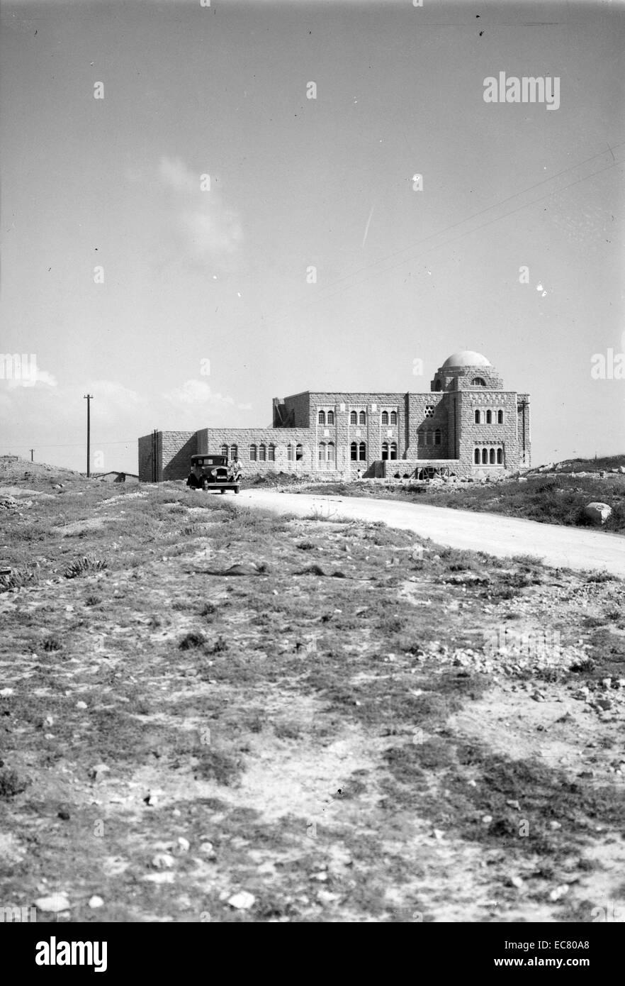 The Hebrew University Library; Jerusalem during the british Mandate period 1932 - Stock Image