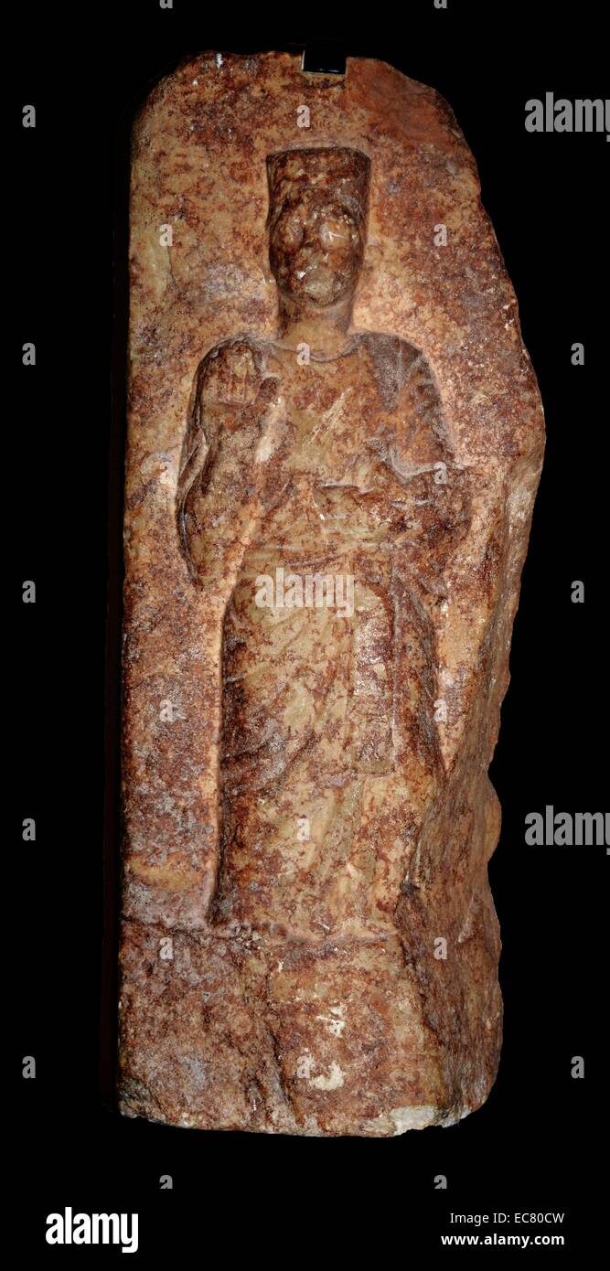 Phonecian Stele 3rd Century BC - Stock Image