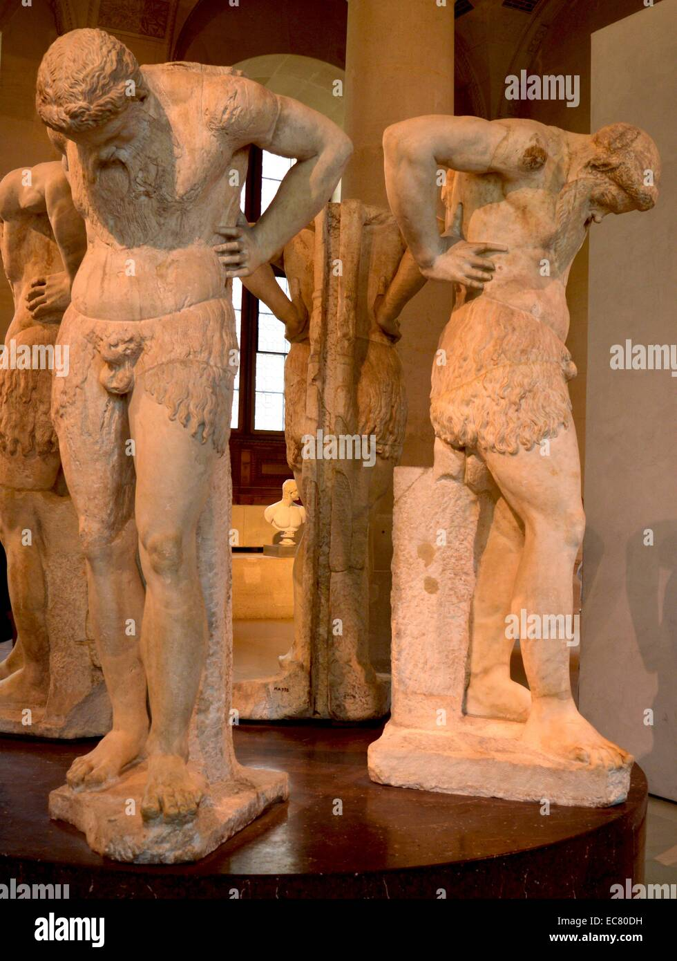 Marble group statue depicting the Satyrs of Atlantis, Roman, 1st Century BC - Stock Image
