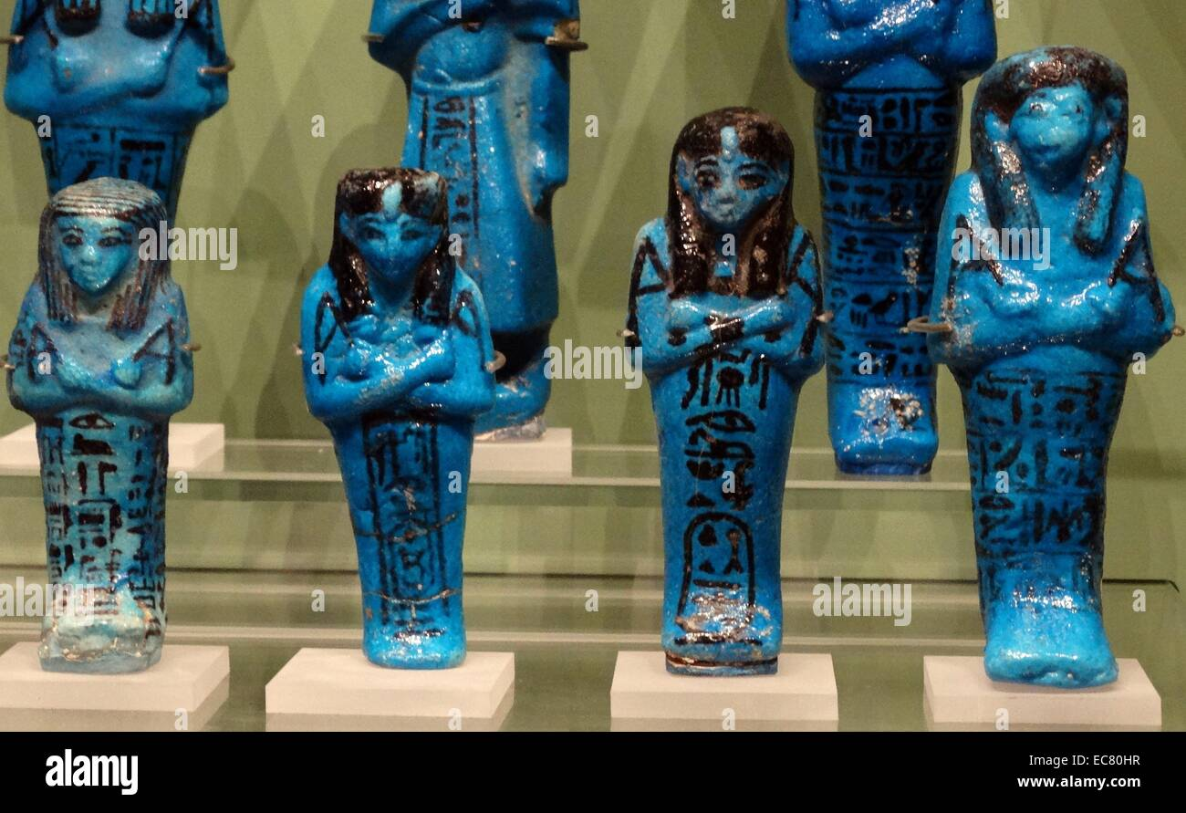 21st dynasty, Shabti's buried with prominent people in ancient Egypt - Stock Image