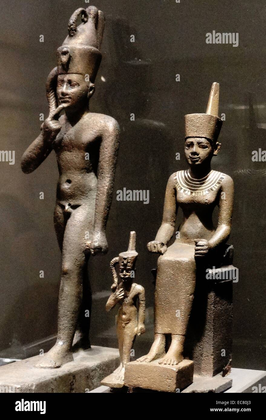 Egyptians gods: Horus (left) and Neith Stock Photo