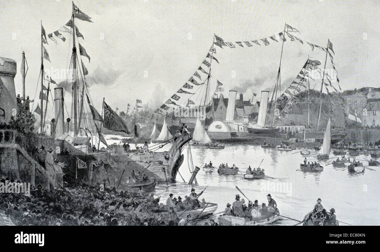 Engraving of the Return of Lord Roberts - Stock Image