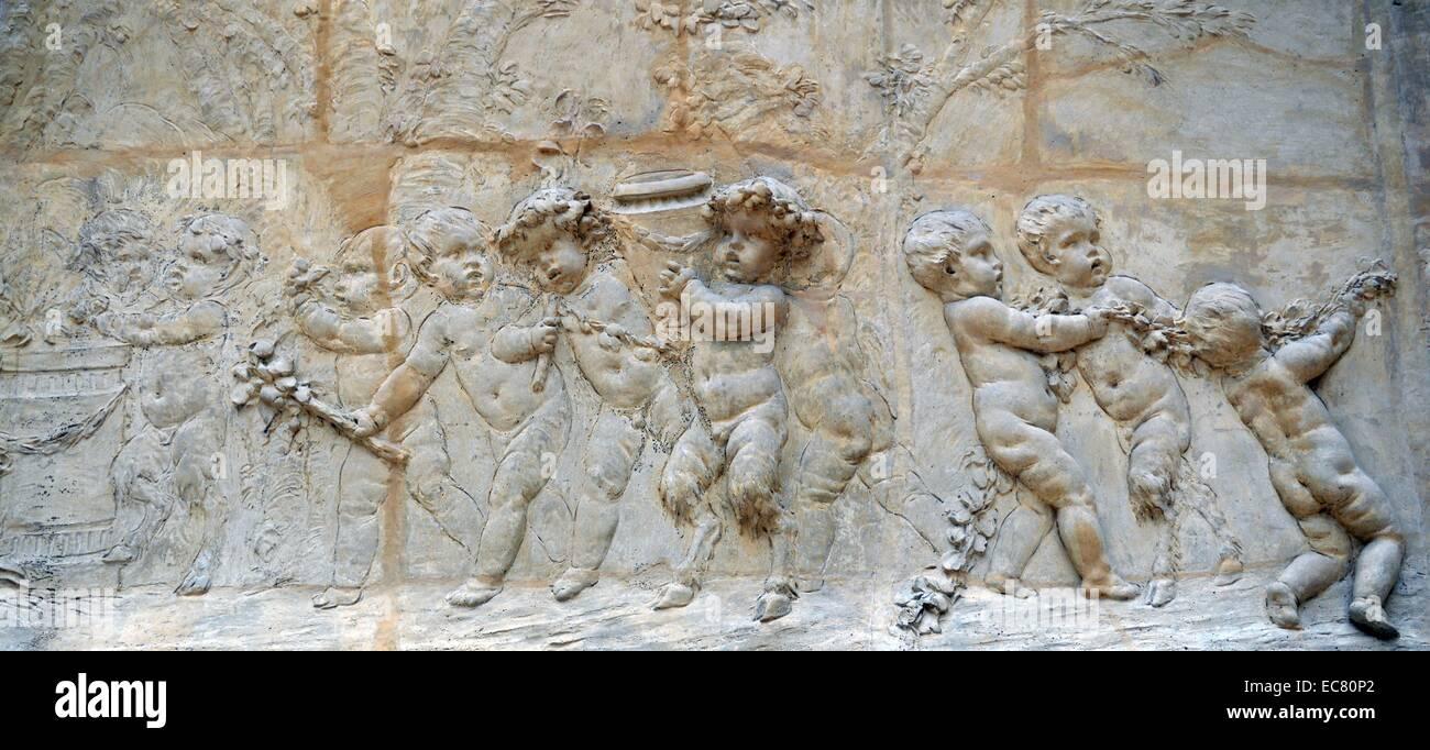 Bacchanale d'enfants. Le Sacrifice de la Chevre. - Stock Image