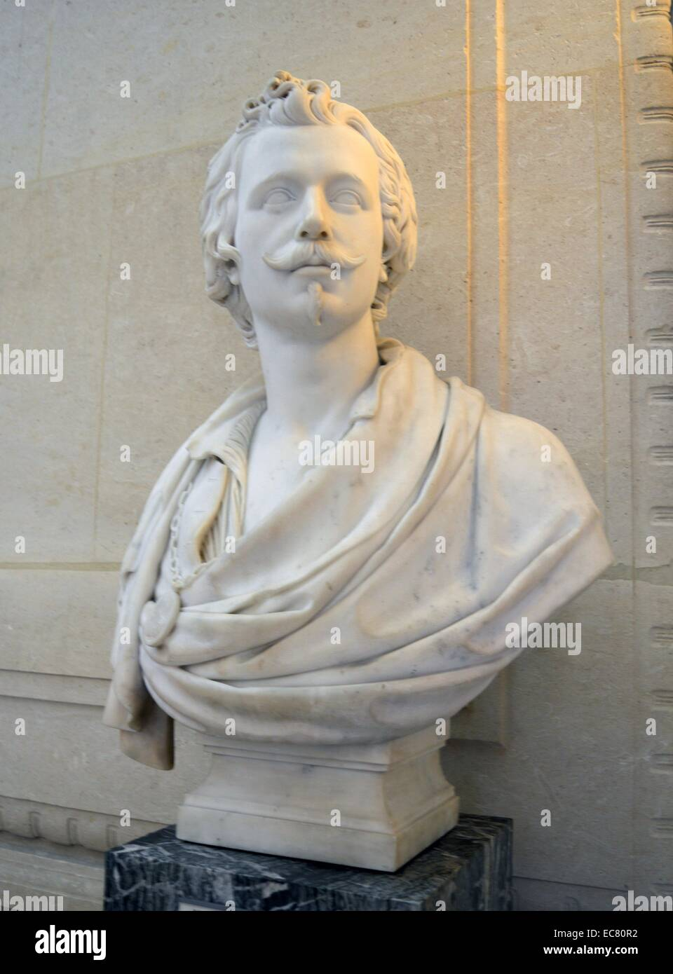 Marble statue of Anthony Van Dyck - Stock Image
